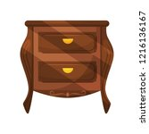 small low bedside table with... | Shutterstock .eps vector #1216136167