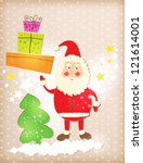 christmas background with santa ... | Shutterstock .eps vector #121614001