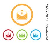 colorful mail or envelope icons ...