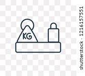 heavy weight vector outline... | Shutterstock .eps vector #1216157551