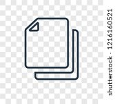 copy concept vector linear icon ...
