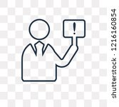 demand vector outline icon... | Shutterstock .eps vector #1216160854