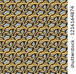 golden chain links seamless... | Shutterstock .eps vector #1216164874