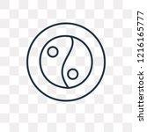 yin yang vector outline icon... | Shutterstock .eps vector #1216165777