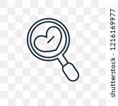 dating vector outline icon... | Shutterstock .eps vector #1216169977