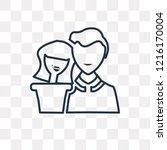 dating vector outline icon... | Shutterstock .eps vector #1216170004