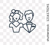 marry vector outline icon... | Shutterstock .eps vector #1216170241