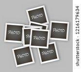 instant square photo frame... | Shutterstock .eps vector #1216179634