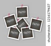 instant square photo frame...   Shutterstock .eps vector #1216179637