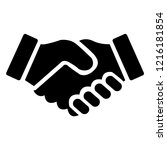 shake hands friendship of... | Shutterstock .eps vector #1216181854