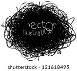 scribble isolated on white... | Shutterstock .eps vector #121618495