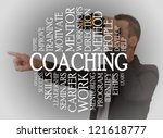 coaching cloud concept with a... | Shutterstock . vector #121618777