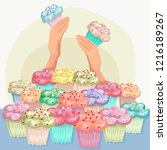 wide choice in a bakery of...   Shutterstock .eps vector #1216189267