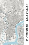 illustration map of the city of ... | Shutterstock .eps vector #1216193164
