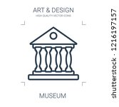 museum icon. high quality line... | Shutterstock .eps vector #1216197157