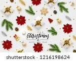 christmas background. xmas... | Shutterstock .eps vector #1216198624