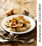 fried dumplings stuffed with... | Shutterstock . vector #1216215844