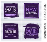 sale and new arrivals template... | Shutterstock .eps vector #1216219087