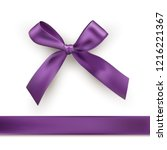 purple silk bow and ribbon.... | Shutterstock .eps vector #1216221367