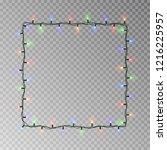 christmas lights square vector  ... | Shutterstock .eps vector #1216225957