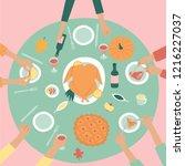 christmas   thanksgiving... | Shutterstock .eps vector #1216227037