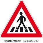 Traffic Sign Pedestrian Crossing