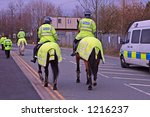 Police Horses And Riders With...