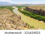 The Rio Grande River Flowing...