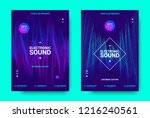 electronic music movement... | Shutterstock .eps vector #1216240561