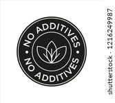 additives free. black and white ... | Shutterstock .eps vector #1216249987