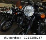 motorbike showroom in...   Shutterstock . vector #1216258267