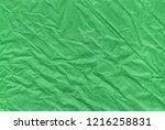 the christmas green crumpled... | Shutterstock . vector #1216258831