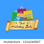 best holiday sale shopping bags ...   Shutterstock . vector #1216260007