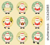 set of santa claus | Shutterstock .eps vector #121626085
