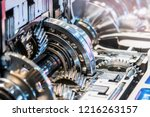 gearboxes and bearings in the... | Shutterstock . vector #1216263157