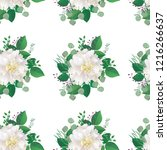 seamless spring floral pattern... | Shutterstock .eps vector #1216266637