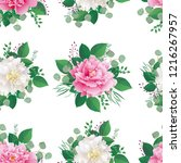 seamless spring floral pattern... | Shutterstock .eps vector #1216267957