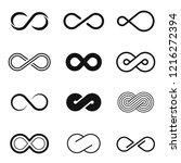 infinity geometric emblem set ... | Shutterstock .eps vector #1216272394