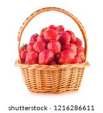 basket full of strawberries... | Shutterstock . vector #1216286611