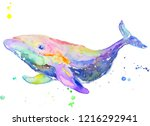 Colorful Whale Painted By Me...