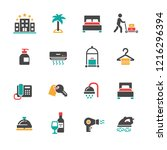 set of hotel icons | Shutterstock .eps vector #1216296394