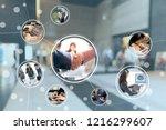 business network concept. | Shutterstock . vector #1216299607