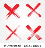 letter x logo.grunge cross sign. | Shutterstock .eps vector #1216318081
