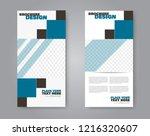 narrow flyer and leaflet design.... | Shutterstock .eps vector #1216320607
