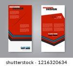 narrow flyer and leaflet design....   Shutterstock .eps vector #1216320634