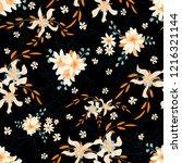 little flowers. seamless... | Shutterstock .eps vector #1216321144