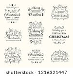 christmas collection of festive ... | Shutterstock .eps vector #1216321447