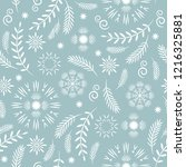 seamless pattern  seasons... | Shutterstock .eps vector #1216325881