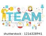 team word lettering...   Shutterstock .eps vector #1216328941