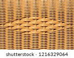 closeup of decorated wicker... | Shutterstock . vector #1216329064